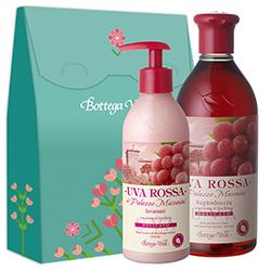 Set gel de dus si sapun lichid cu extract de struguri rosii, 250 ML + 400 ML