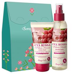 Set crema de maini si parfum deodorant cu extract de struguri rosii, 125 ML + 75 ML