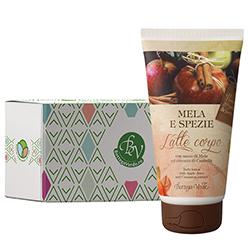 Lapte de corp cu extract de mere si scortisoara in cutie cadou