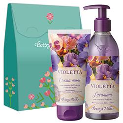Set cadou - Crema de maini si sapun lichid cu parfum de violete - Violetta, 250 ML + 75 ML