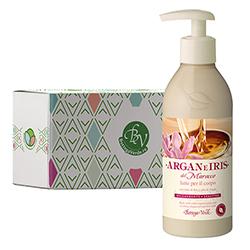 Lapte de corp cu ulei de argan si lapte de Iris in cutie cadou