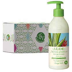 Lapte de corp hidratant cu extract de Aloe Vera in cutie cadou - Aloe, 250 ML