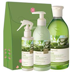 Set cadou femei hidratare Aloe Vera - Aloe, 400 ML + 250 ML + 200 ML