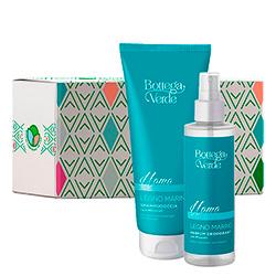 Set gel de dus si parfum deodorant cu aroma lemnoasa, 200 ML + 150 ML