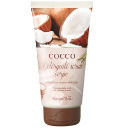 Scrub pentru corp cu pudra de nuca de cocos
