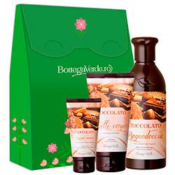 Set hidratare corp cu extract de cacao, 250 ML + 200 ML + 75 ML