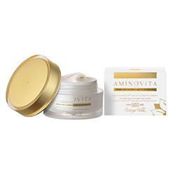 Crema de fata pentru zi si pentru noapte imbogatita cu Pluridefence®, peptide si ceramide vegetale - Aminovita, 50 ML
