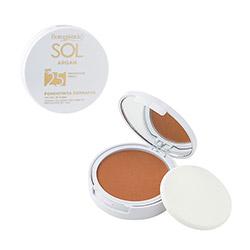 Fond de ten compact cu ulei de argan, SPF 25, bej inchis - SOL Argan, 9 ML