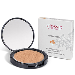 Pudra compacta matifianta waterproof, aluna - Glossip  (9 G)