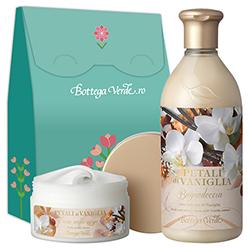Set cadou - Gel de dus si crema de corp cu petale de vanilie - Petali di Vaniglia, 400 ML + 200 ML