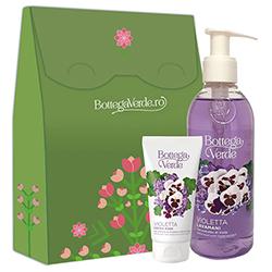 Set cadou - Crema de maini si sapun lichid cu parfum de violete, 75 ML