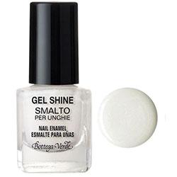 Gel shine - Lac de unghii  - alb sidefat