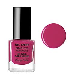 Gel shine - Lac de unghii cu sclipici roz  - zmeura