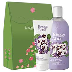 Set cadou femei ingrijire corp cu extract de violete si ulei de migdale dulci - Violetta, 400 ML + 200 ML