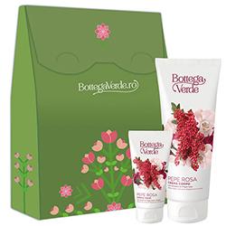 Set cadou femei hidratare cu extract de piper roz si vanilie - Pepe Rosa, 75 ML + 200 ML