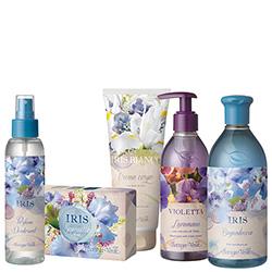 Set cadou - Special Mix Iris si Violete, 400 ML + 125 ML + 150 G + 200 ML + 250 ML