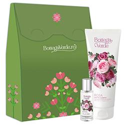 Set cadou femei ingrijire corp cu aroma de trandafiri - Rosa, 30 ML + 200 ML