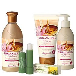 Set Argan, Iris si Masline, 400 ML + 75 ML + 250 ML + 5 ML