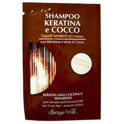 Mostra - Sampon cu keratina si lapte de cocos pentru par predispus la incretire - Keratina e Cocco, 4 ML