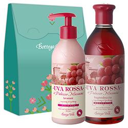 Set cadou - Gel de dus si sapun lichid cu extract de struguri rosii - Uva Rossa, 400 ML + 250 ML