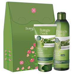 Set cadou femei hidratare par cu extract de aloe si mar verde - Mela Verde, 250 ML + 150 ML