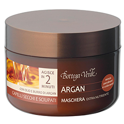 Masca cu ulei si unt de argan pentru par deteriorat si fragil  - Argan del Marocco, 200 ML