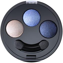 Fard de pleoape trio, umed/uscat cu vitaminele A-C-E, nuante de bleu