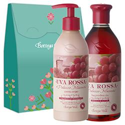 Set - Gel de dus si crema de corp cu extract de struguri rosii - Uva Rossa, 400 ML + 250 ML