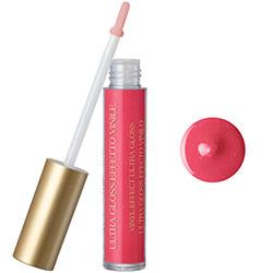 Luciu de buze cu extract de piersica si vitamina E, roz hibiscus
