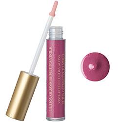 Luciu de buze cu extract de piersica si vitamina E, roz invechit