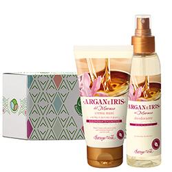 Set cadou - Argan si iris de Maroc - Crema de maini si parfum deodorant cu argan si iris