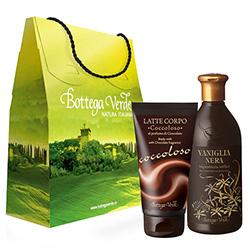Set cadou - Gel de dus cu vanilie neagra si lapte de corp cu ciocolata