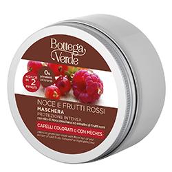 Masca cu ulei de nuci braziliene si mix de fructe rosii pentru par vopsit si cu suvite