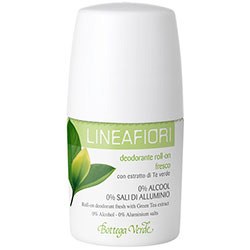 Deodorant roll-on cu extract de ceai verde - Lineafiori, 50 ML