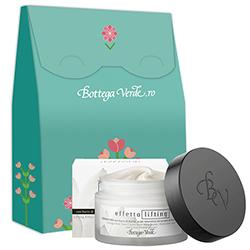 Set cadou - Crema de fata cu unt de shea, acid hialuronic si extract din flori de lotus - Effetto Lifting, 50 ML