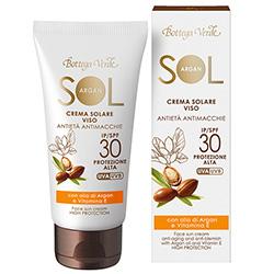 Crema de fata pentru plaja cu efect anti-imbatranire, anti-pata, cu ulei de argan si vitamina E - Sol Argan  (50 ML)