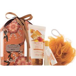 Set cadou - Miere - Crema de maini si balsam de buze cu miere  (65 ML + 5 ML)