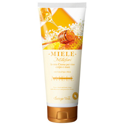 Crema de fata, corp si maini cu ceara de albine si miere - Miele  (200 ML)