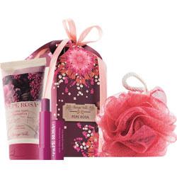 Set cadou - Crema de maini si balsam de buze cu piper roz