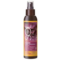 Protectie solara - Balsam pentru par, fara clatire, cu ulei de macadamia si extract de henna, filtru UV
