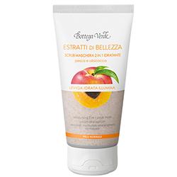 Extracte de frumusete - Scrub Masca 2 în 1 hidratanta - piersici si caise - piele normala