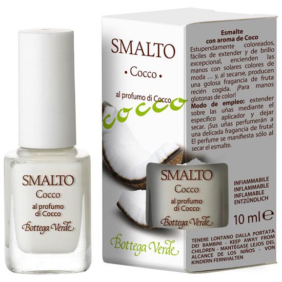 Lac de unghii parfumat, cu aroma de cocos, alb - Smalto  (10 ML)