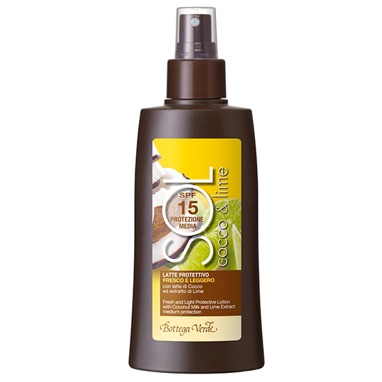 Cocos si lime - Lapte de protectie, racoritor, cu lapte de cocos si extract de lime - protectie medie SPF15