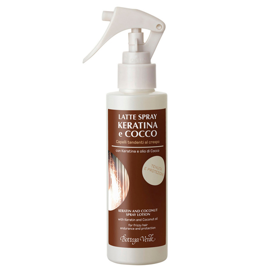 Lapte spray cu keratina si ulei de cocos  pentru par predispus la incretire