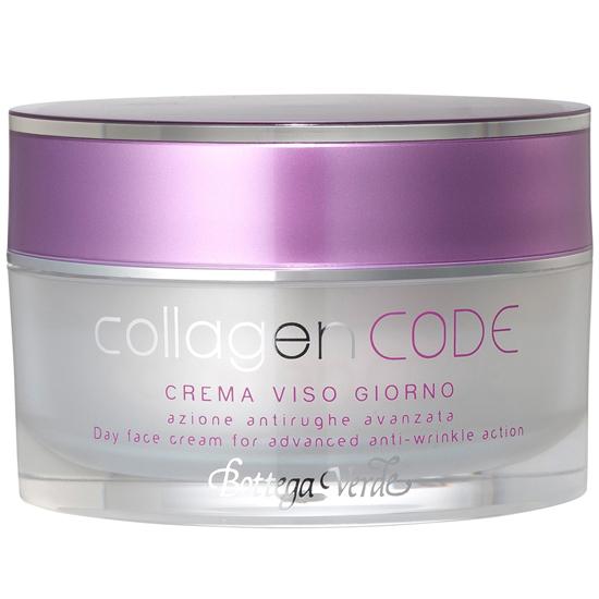 CollagenCODE - Crema de fata de zi, actiune antirid avansata, cu Colagen vegetal si Elastindefence ™ hidratanta   (50 ML)