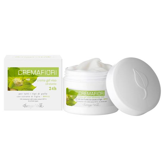 Cremafiori - Crema gel de fata hidratanta 24h pentru toate tipurile de piele cu extract de Tei - SPF15   (50 ML)