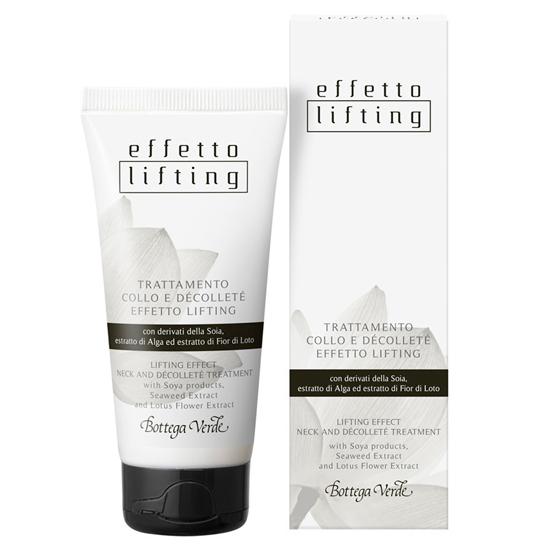 Efect lifting - Tratament pentru gat si decolteu efect lifting cu derivati din soia, extract din alge si din flori de lotus