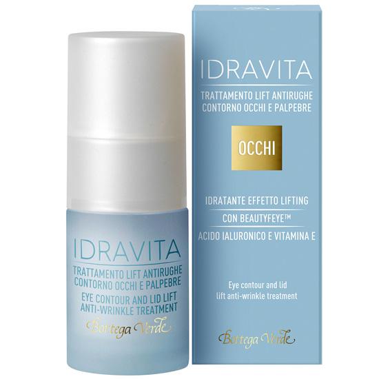 Tratament antirid pentru zona din jurul ochilor si a pleoapelor, efect lifting cu Beautyfeye®, acid hialuronic si vitamina E - Idravita  (15 ML)