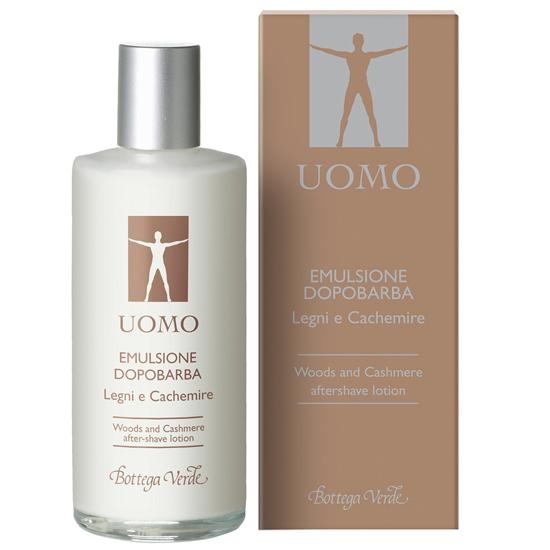 UOMO - Lemn si Casmir, emulsie dupa barbierit cu extract de Abanos si Mahon