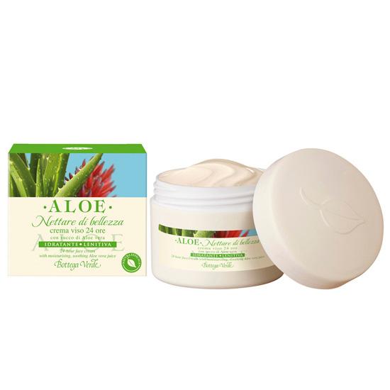 Crema de fata hidratanta si nutritiva, 24 ore, cu extract de Aloe Vera
